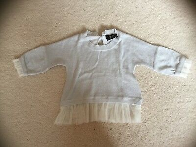 Pre-loved Bardot Junior Baby girl Silver Long Sleeve Top, Size 1