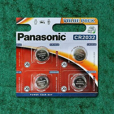 4 x Panasonic CR2032 3V Lithium Coin Cell Battery 2032 BR 2032 Key Fobs Alarms