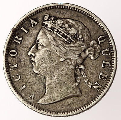 1885 Straits Settlements 20 Cents ~ KM#12 Victoria British Colonial Silver