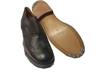 Shoes Service Brown Leather - Size 9 Small - Grade 1 Used - Dfn1326