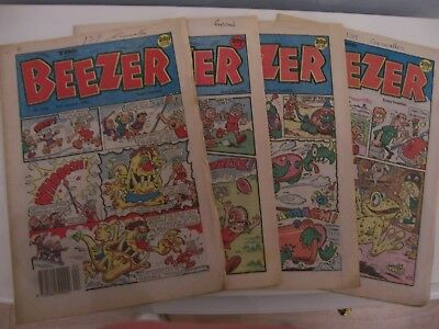 4 Beezer Comic Books No 1776 1777 1778 1781 from 1990 Excellent Condition