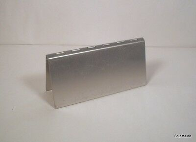 Pina Zangaro Metal Aluminum Checkbook Hinged Cover, Excellent Condition