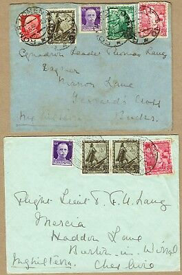 Italy 1939 multifranked covers to GB (2)