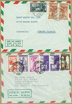 Italy 1952-56 airmail covers to Australia (2)