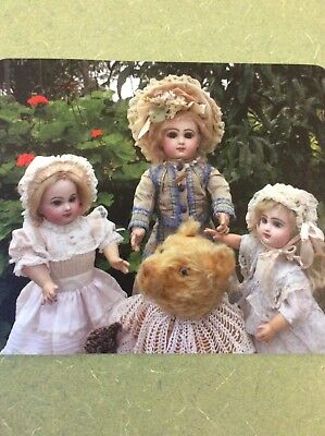 Mousepad with  Beautiful Antique French Dolls.