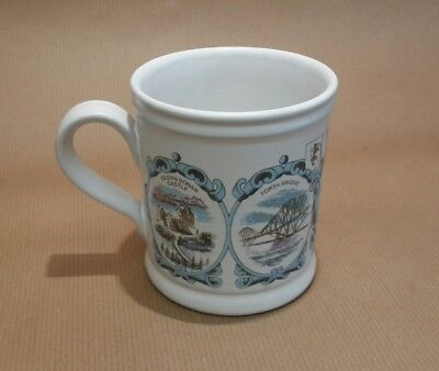 Vintage Denby Mug - Scotland - Robert the Bruce, Edinburgh Castle,Forth Bridge