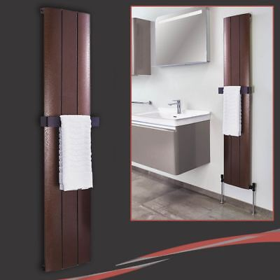 "280mm(w) x 1600mm(h) ""Thor"" Copper/Bronze Designer Aluminium Vertical Radiator"