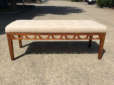 *REUPHOLSTERED* Mid Century OTTOMAN Retro BENCH SEAT Avalon Danish Style DAYBED