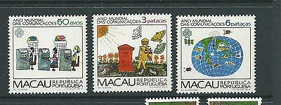1983 World Communication Year set of 3  Complete MUH/MNH as Issued