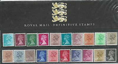 Royal Mail Definitive Stamps Collectors Pack No 1 All Stamps as Issued 1/2p to75