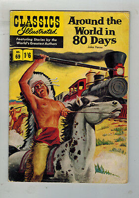 CLASSICS ILLUSTRATED COMIC No. 69 Around World in 80 Days HRN 126 - 1/6