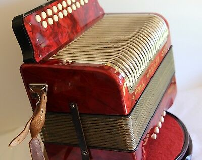 Vintage Hohner Corso Diatonic Accordion made in Germany