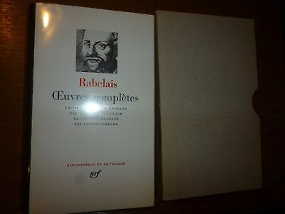 RABELAIS OEUVRES  COMPLETES  Gallimard Bibliotheque Pleiade 1985