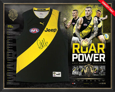 2017 Official Roar Power Richmond Tigers Dustin Martin Signed Jersey Brownlow