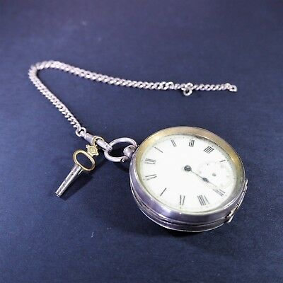 Swiss silver pocket watch hallmarked 0.935 with three bears and silver chain