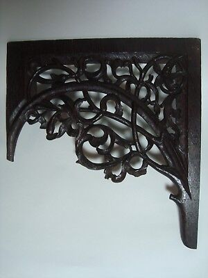 An Antique Carved Oak Panel, 'foliate Tracery'.