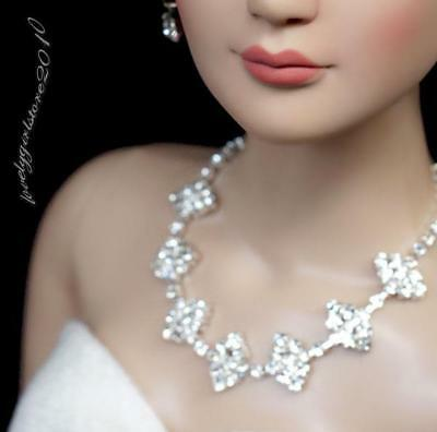 """Rhinestone Necklace and Earring Jewelry Set for 22"""" Tonner Tyler doll 017C"""