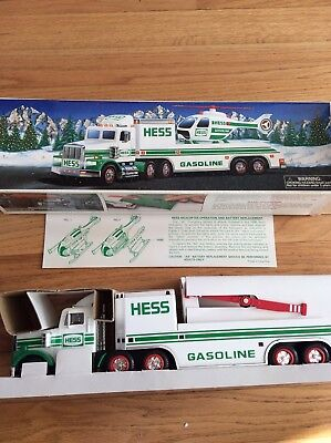 Vintage 1995 Hess Truck With Helicopter, New