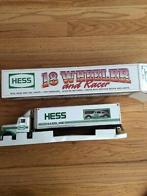 Vintage 1992 Hess 18 Wheeler With Racer, New