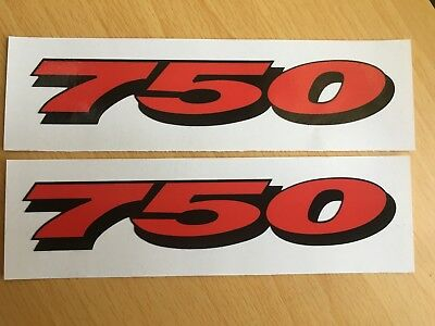 Suzuki GSXR 750 Stickers Motorbike Motorcycle Vinyl  Decals x2 @ 152 x 28mm