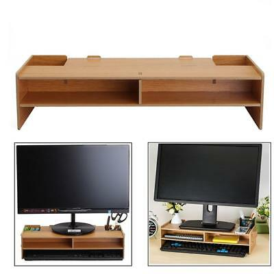 Desktop Monitor Riser TV Stand Desk Organizer Storage Box Laptop Computer pro