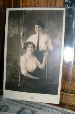 Vintage Early 1900's Real Photo RPPC Postcard two women -of GAY INTEREST