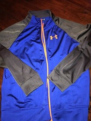 NWT BOYS YOUTH UNDER ARMOUR COLD GEAR RED CIRCUIT FULL ZIP JACKET COAT SZ M L XL