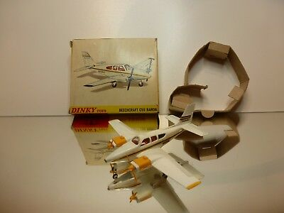 Dinky Toys  715 Beechcraft C55 Baron - Off-White - Good Condition In Box