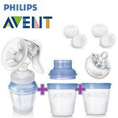 PHILIPS AVENT Natural Manual Via Breast Pump with Milk Storage Cups