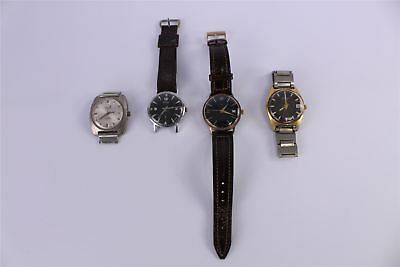 Brilliant Lot of 4 x Vintage HAND-WIND Gents Wrist Watches Mixed Working