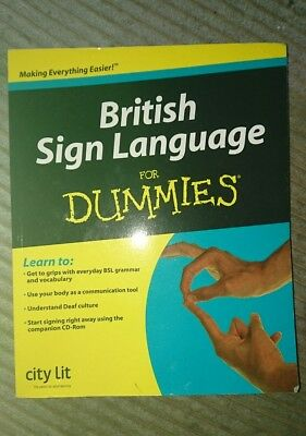 BSL British Sign Language for Dummies paperback book and CD