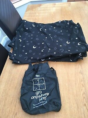 The Gro Company Black Out Gro Anywhere Blind TRAVEL EASY TO USE MOON & ;STARS