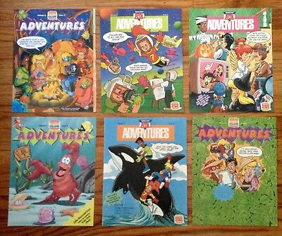 Lot Of 6 Burger King Kids Club Adventures Magazines 1992 & 1993  (New Old Stock)