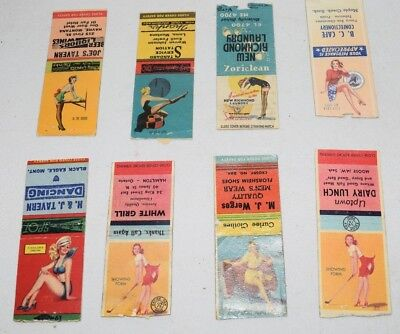 antique PIN UP RISQUE GIRLY suggestive matchbook covers lot 2