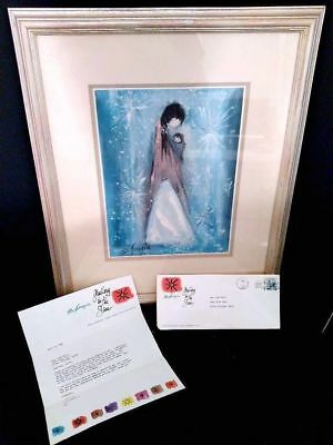 Vintage Navajo Madonna Signed Print with Original Letter from 1966 Ted Degrazia