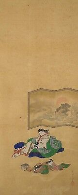 #9327 Japanese Hanging Scroll: Dozing Beauty