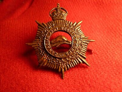 Ww1 Cef Officers Canadian Army Service Corps Cap Badge