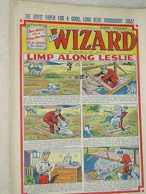 WIZARD   COMIC......VINTAGE ISSUE.....1st January 1955...NEW YEAR ISSUE