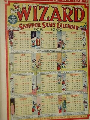 WIZARD   COMIC......VINTAGE ISSUE...31st December 1949.....NEW YEAR ISSUE