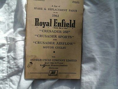 Royal Enfield Crusader 250, Sports, Airflow, Spare & Replacement Parts 1961