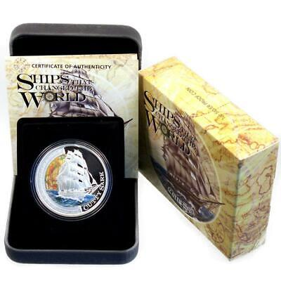 Tuvalu 1 Dollar 2012 PP Navires of the World Cutty Sark Argent Proof Certificat