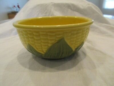 """Antique 6"""" SHAWNEE Corn Bowl - small repaired chip - very nice bowl"""