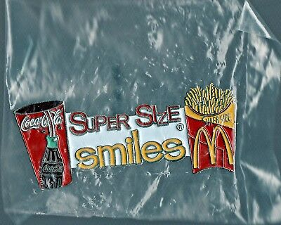 McDonald's Pin Super Size Smiles Coca~Cola French Fries Golden Arches Brand New
