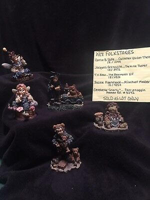 Boyds Bears & Firends The Wee Folkstone Collection Lot of 5