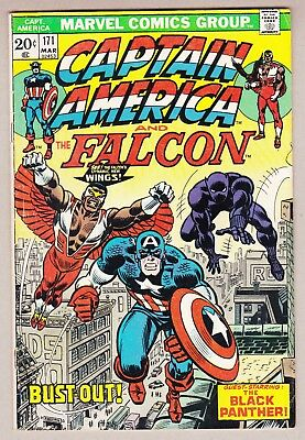 Captain America #171 Falcon's New Wings Black Panther AFFORDABLE