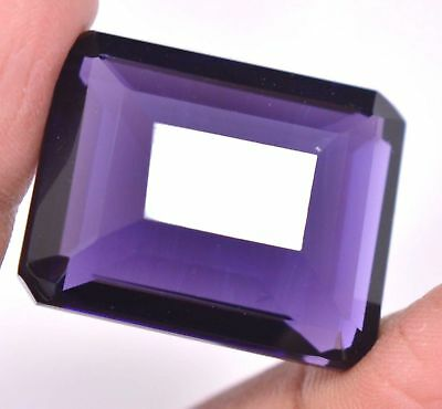 LARGE 17.5x13mm OCTAGON-FACET DEEP-PURPLE NATURAL AFRICAN AMETHYST (APP £276)