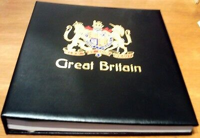 Superb Stanley Gibbons Great Britain Stamp Album With Slip Case Covers 1840-1986