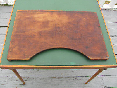 Primitive Antique Wooden Lap Board Table for Hand Work Sewing Drawing Games etc