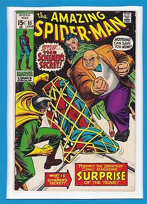 "Amazing Spider-Man #85_June 1970_Fine_Kingpin_""the Schemer's Secret""_Bronze Age!"