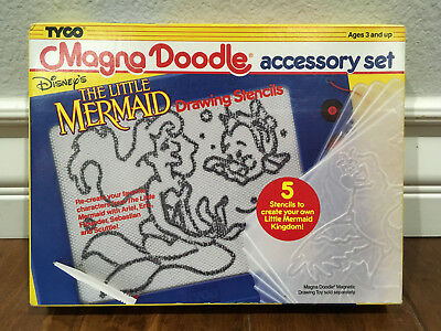 vintage Disney's The Little Mermaid Tyco Magna Doodle Accessory Set from 1991